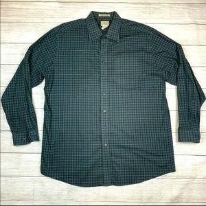 LL Bean Traditional Fit Plaid Shirt XL Tall XLT